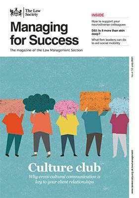 Managing for Success magazine cover - July 2021