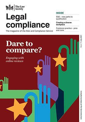 Legal compliance magazine cover - July 2021