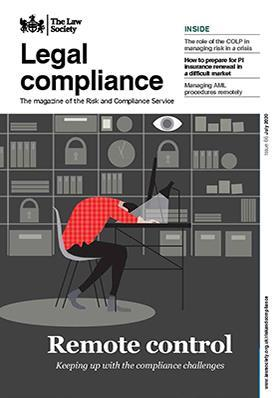 Legal Compliance magazine cover - July 2020