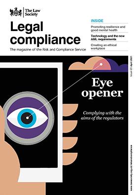 Legal Compliance magazine cover - April 2021