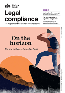 Legal Compliance magazine cover - October 2020