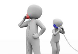helpline two people talking on phone