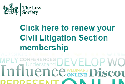 Civil Litigation Section renewals