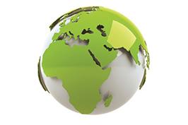 grey and green globe 266x177