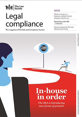 Legal Compliance magazine cover - October 2019