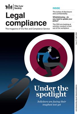 Legal Compliance magazine cover - April 2020