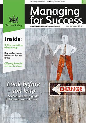 Managing for Success magazine cover - August 2015