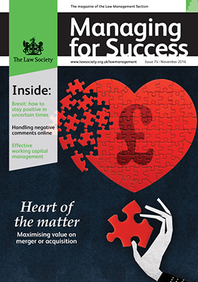 Managing for Success November 2016 cover